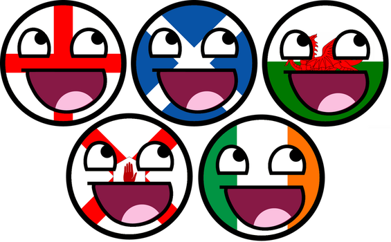 United Kingdom Awesome Faces by TigerJ15