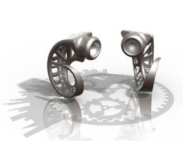 Aries Plugs - Stainless Steel by improbablecog
