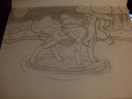 Suicune for ArtemisHunter1992 (uncolored) by JolteonKing217
