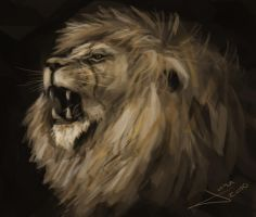 Lion head by guang2222