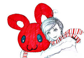 Louis and Red Bear by Mari-etsu