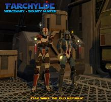 Farchylde My SWtOR Bounty Hunter by GlobtheSpacetoad