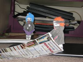Konan and pain with paper by siren10101