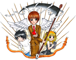 Death Note Trio Color by subaru87