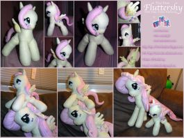 My Little Pony - Fluttershy Plushie the Second by Matsuban