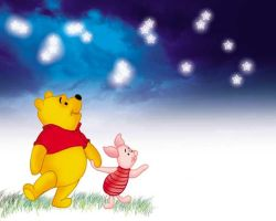pooh and piglet by artist Tom Kelly by TomKellyART