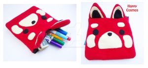 Red Panda Zippered Pouch by CosmiCosmos