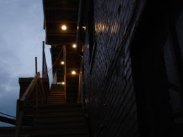 Lights and Stairs at Dusk by LOSTgnosis