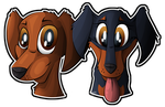 Canine: Dachshunds by Mychelle