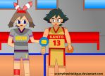 Ash and may goes pokemon sports trainer by scottytheshieldguy
