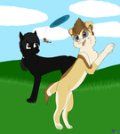 Blue and Zee Having Park Fun! .::B-Day GA::. by minikitty1516