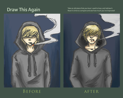 Smoke and darkness - improvement meme by LilyScribbles