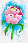 New Traditional Watercolor Peony! by Halasaar01