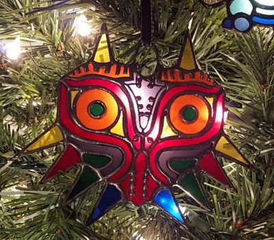 Mini Majora Mask Ornament - Stained Glass by DarkeVitrum