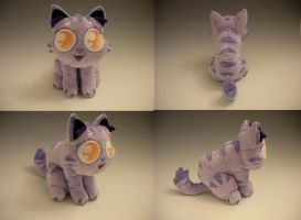 Lil Purple Kitty Plush by WhittyKitty