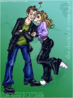 DrW :9th Doctor n Rose Tyler: by StephRatte