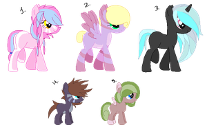 Pony Set - Closed by NomDePlume-Adopts