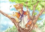 kitty on a tree by chicharon