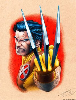 Wolvy by Kyle Chaney after Ron Garney Weapon X by KYLE-CHANEY