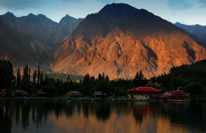 Shangrila sunset by OmerTariq
