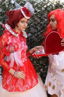 The Red Queen and Card Soldier  10 by MajesticStock