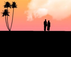 palm tree lovers by krissomatik