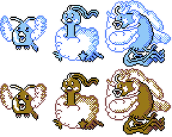 Swablu Family GSC Sprites by Axel-Comics