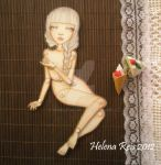Phedre OOAK Jointed Paper Doll by purplefae