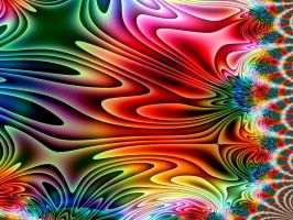 Rainbow Stretch Fractal by cdooginz