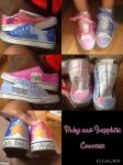 Ruby and Sapphire Converse by Goth-Girl-G