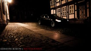 BMW 530i e60 in Wernigerode at night by DimitriBokowPhoto