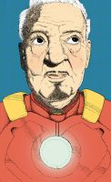 Elderly Iron Man by ZachWoomer