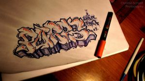 graffiti Sketch - PURPZ by C-Schaaf-Photography