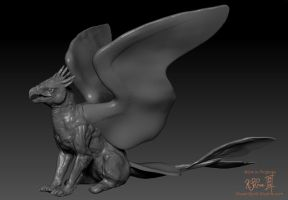 ZBrush - Gryphon WIP - 01 by Dreamspirit