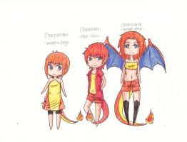Charmander evolutions adopt by Pencil-Only