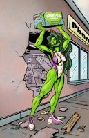 She-Hulk's Bad Day by ShamanMagic