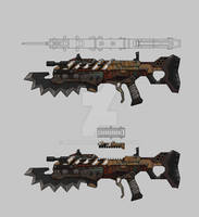 Bounty Hunter: Black Dawn - Assault rifle 01 by millionart