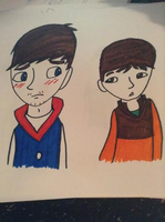 Ben And Doug Marker Colored by Ashben11