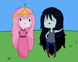 Marcy and Bubblegum ~ Chibi attack by AsleepPanther