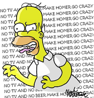 No TV and No Beer Make Homer Something Something by NoahTheCartoonist