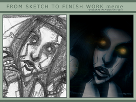 Sketch to Finish Meme (GLaDOS pic) by Wickfield