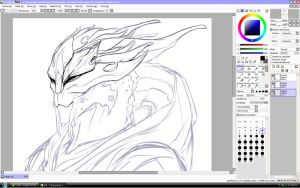Yamihr - Character Auction - WIP by Krubbus