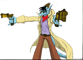 double revolver colour by all-of-anthro