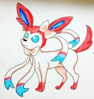 Eeveelution- Sylveon by MousieDoodles