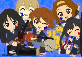 Chibi: K-on! Group by animereviewguy