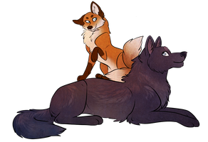 Secret Santa: Akane and Husher! by Noxx-ious