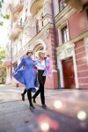 How'l moving castle: Howl and Sophie Fly Away by GeshaPetrovich