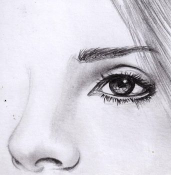 eye and nose practice 2 attempt with pencil by Gandhae