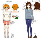 reference - haru and c by roxaswantsacupcake