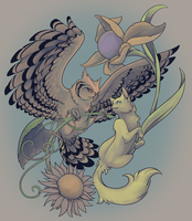 Colouring contest - The Cat and the Owl by Inghelene